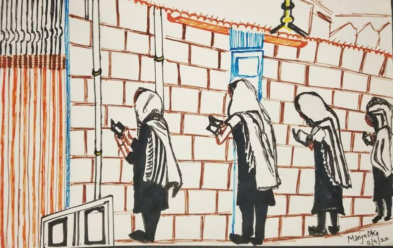 Social distancing in Jerusalem
