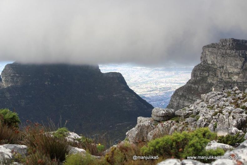 Table cloth over table mountain