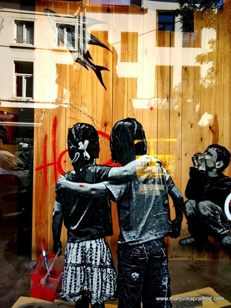 Virtual Street art tour in Brussels