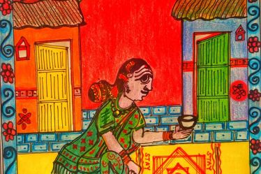 Indian folk Art -Cheriyal Painting