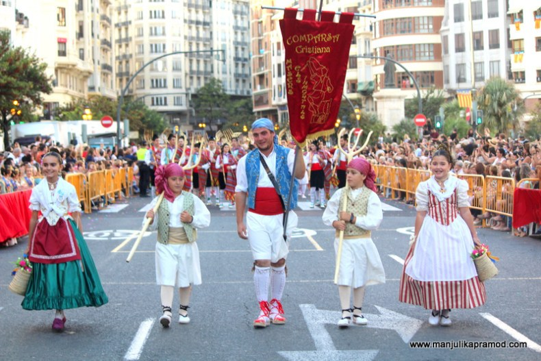 This takes place every year on 9th October in Valencia