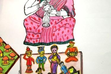 Bright and cheery toys of Kondapalli