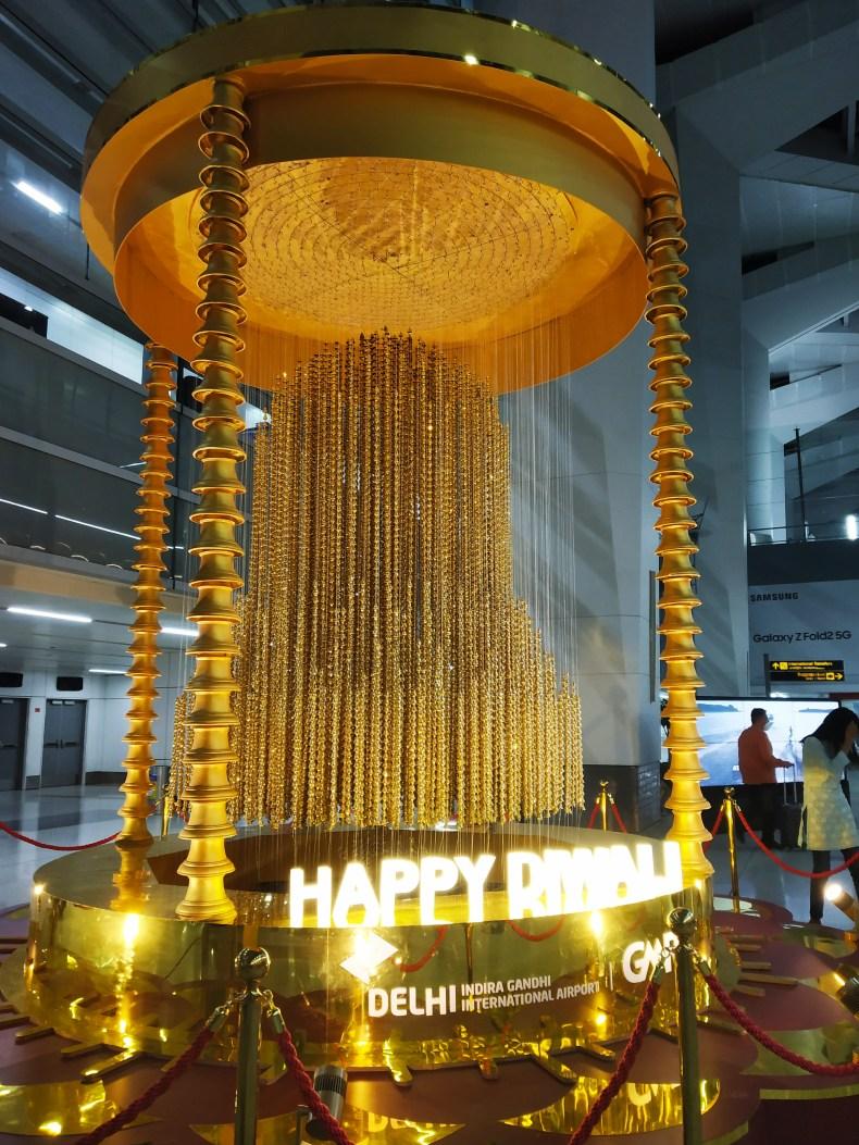 Delhi airport during Diwali 2020