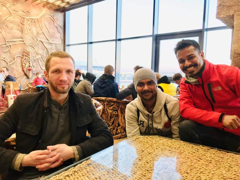 With Andrei and Bhim in St. Petersburg