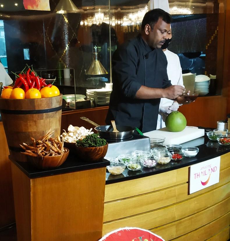 Chef Srinivasan Govindarajan at Neung Roi