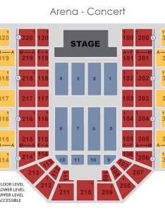 Graphical map arena concert also seat locator mankato civic center rh mankatociviccenter