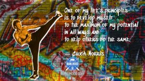 Chuck Norris Quote Wallpaper - Martial Arts