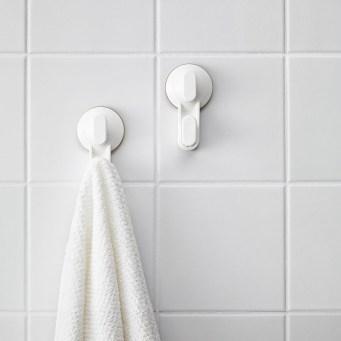 STUGVIK-pyyhekoukut kiinnittyvät imukupeilla ilman poraamista.