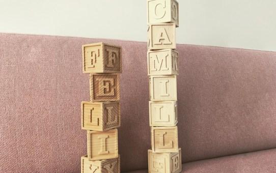 Birth gift - letter blocks v2