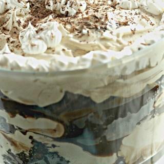 triple chocolate mocha trifle|www.mannaandspice.com