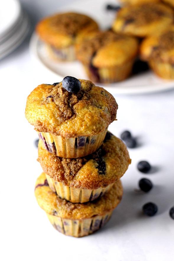 Ultimate Blueberry Muffins|www.mannaandspice.com