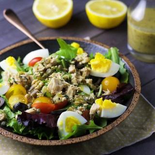 Chopped Nicoise Salad|www.mannaandspice.com