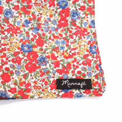 Pochette de costume en Liberty Emma and Georgina rouge