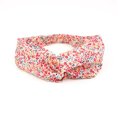 Headband en liberty Phoebe rouge