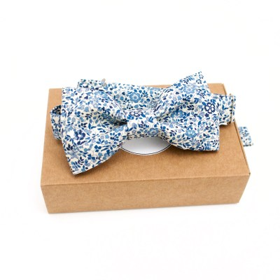 Noeud papillon Liberty Katie et Millie vintage blue
