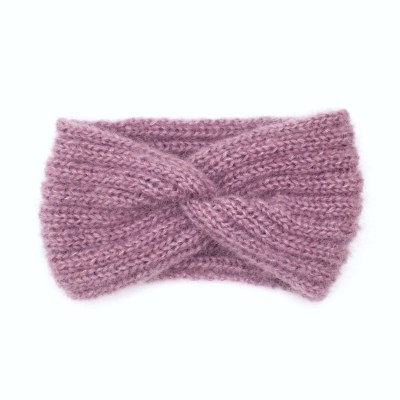 Gestricktes Stirnband, aus Mohair und Seide, erikaviolett