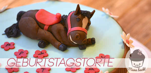 Geburtstagstorte mit Pferd fr wahre Pferdeliebhaber