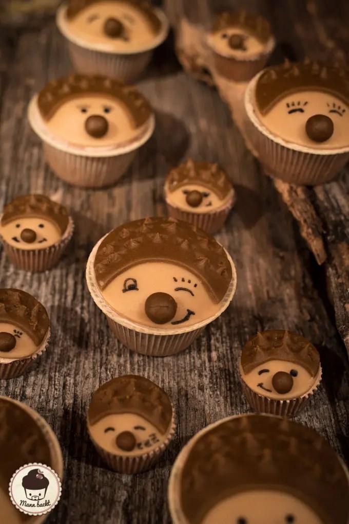 Igel Cupcakes  Mann backt