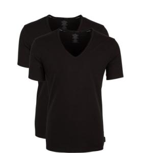 Calvin Klein heren 2-pack T-shirts V-hals - zwart