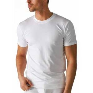 Mey heren T-shirt hoge boord wit - Dry Cotton 46003