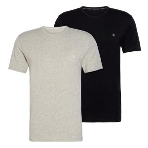 Calvin Klein 2-pack T-shirts Crewneck Logo Zwart / Grijs