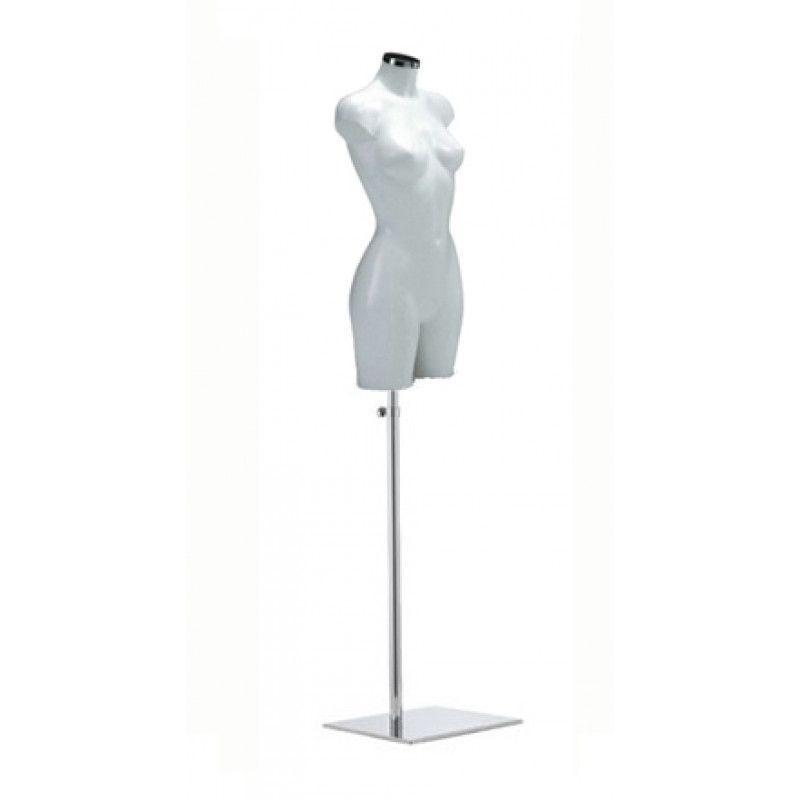 buste mannequin femme en pvc blanc
