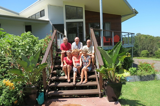 Three families share – a home among the gum trees