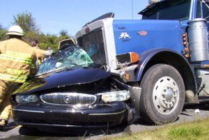 NH truck crash attorney Semi-Truck Crashing into Car