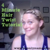 4 Minute Hair Twist Tutorial