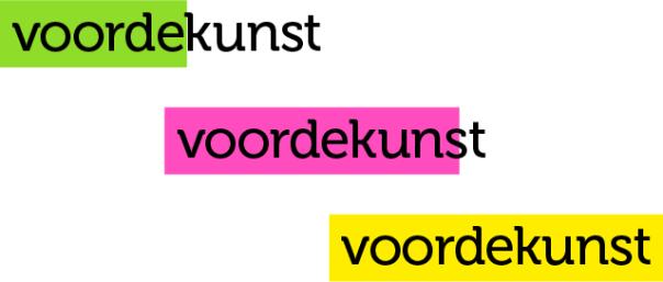 voordekunst - three logos