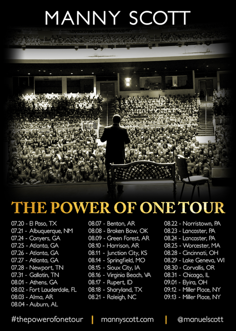 The Power of One Speaking Tour 2017   Manny Scott