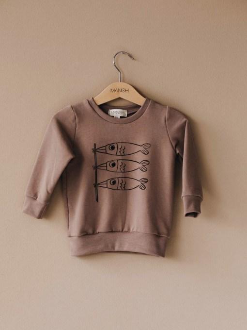Sweater koinobori taupe