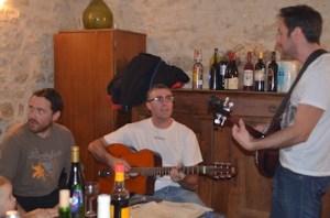 Des musiciens de Lous Papalounes à La Gabertie