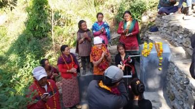 """Inauguration à la mode """" Gurung """" Ethnie locale à laquelle appartient Dhan"""