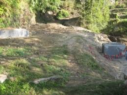 Vue sur le troisième réservoir contenant la fontaine