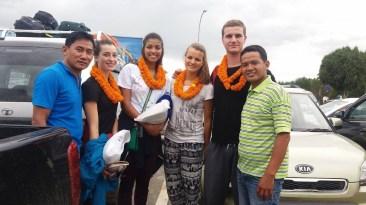 Les pieds en terre Népalaise