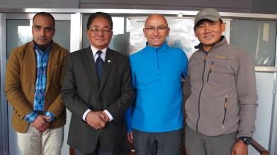 Dr Kalyan Dhungana, Daman Bahadur Ghale,Thierry Giraud, Dhan Bahadur Gurung