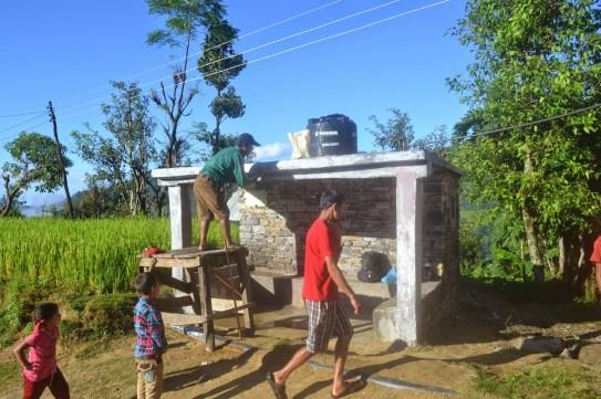 Les sanitaires collectifs de la Mairie du VDC de Simjung avant