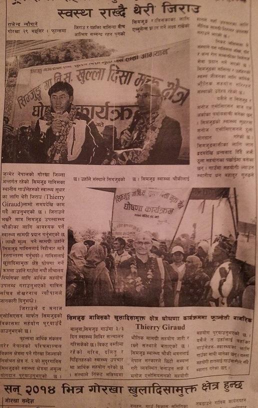 Dans la presse Népalaise