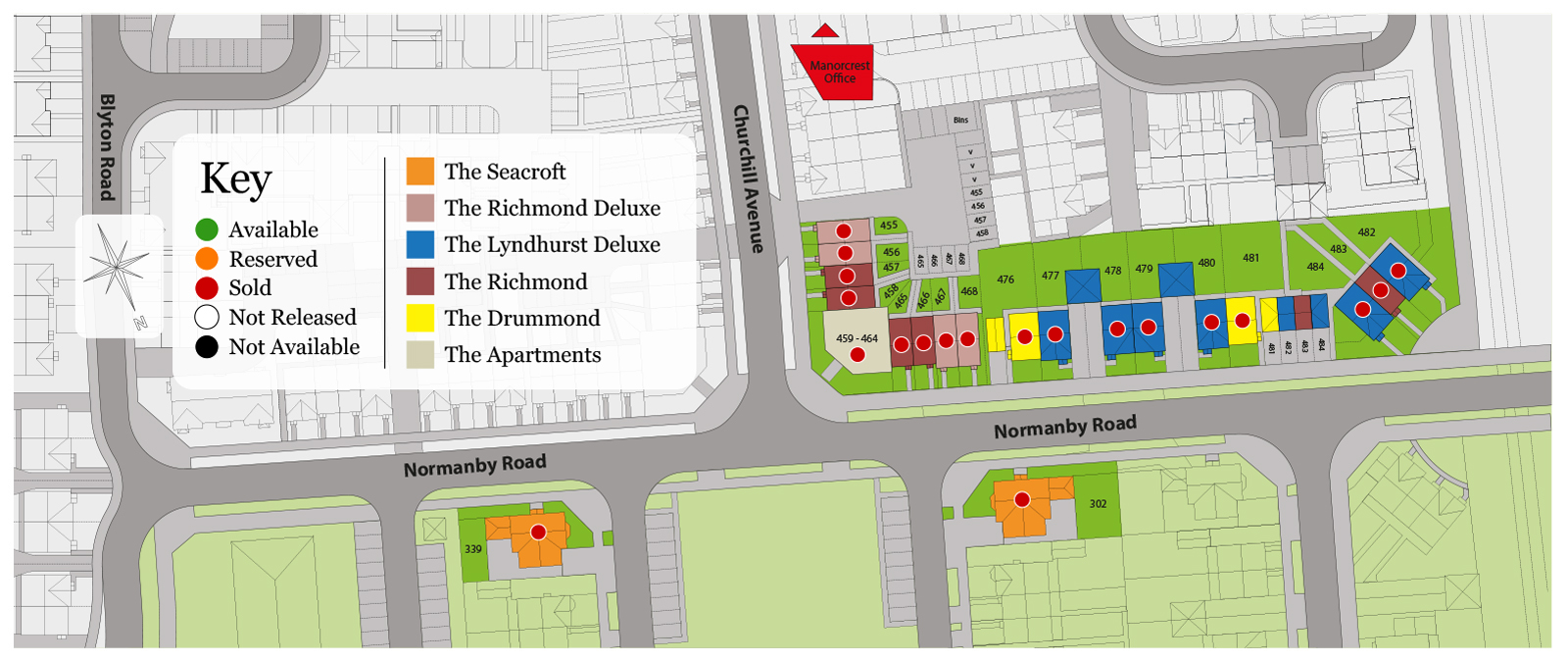 Skegness Site Map January 2021