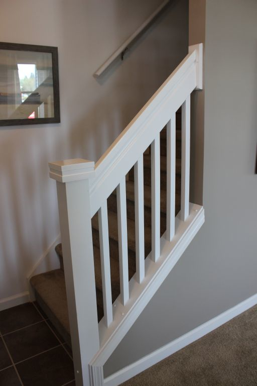 White Stair Railing  Modular Homes by Manorwood Homes an