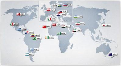 Países participantes en el Mundial Sub'17 de EAU Foto: fifa.com