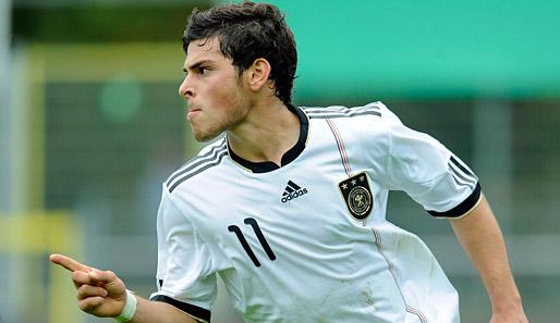 Kevin Volland con la camiseta de Alemania Foto: www.mibundesliga.com