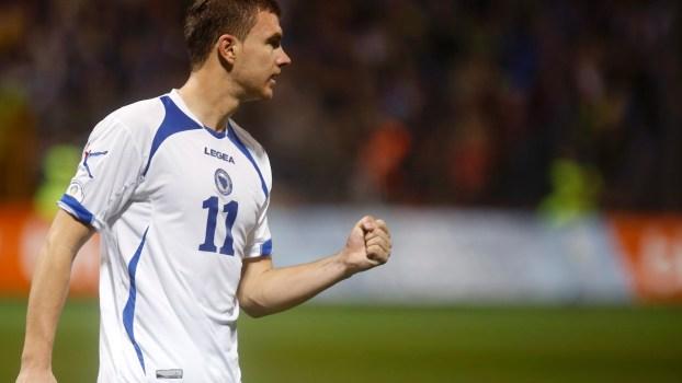 El delantero citizen es la mayor esperanza bosnia en el Mundial. Foto: imguol.com