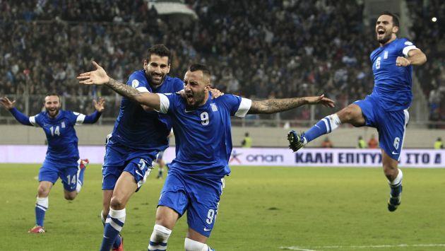 Mitroglu celebra uno de los goles de la repesca ante Rumania. Foto: peru21.pe