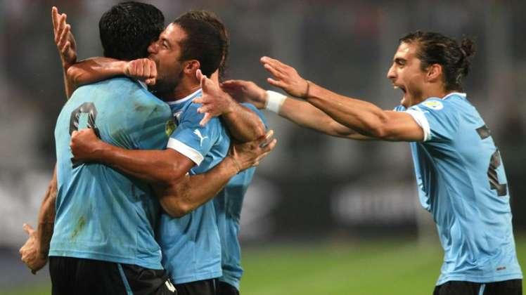Los jugadores de Uruguay esperan celebrar muchos goles en el Mundial. Foto: fichajes.com