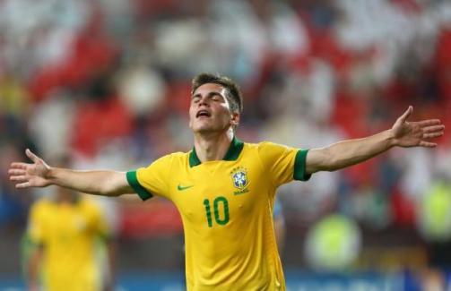 Nathan Allan de Souza celebra un gol con Brasil U'17 Foto: Talksport.com
