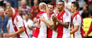 El Ajax barrió al Vitesse (Foto: bbc.com)