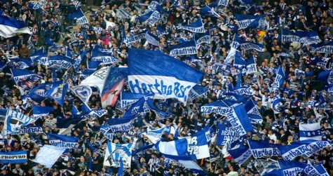 La afición del Hertha en el Olímpico de Berlín | Foto: The Hard Tackle
