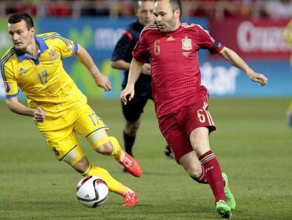 Iniesta fue de los mejores ante Ucrania | Foto: mundodeportivo.com